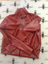 R0527 Rubber LATEX DRESS *PS RED* Westward Bound Size 8 UK Seconds RRP £217.85