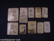 10 x BP Merkenthaler MONOGRAMMES, cuivre gabarits, stencils, patron broder