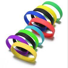 Elasticity Silicone Rubber Wristband Bracelet Cuff Wrist Band Sport Hand Bangle