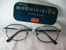 f294a75a5634 Magnivision Sophisticate Black Reading Glasses 1.75