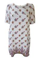 SOMERSET By Alice Temperley 100% Silk White Floral Print Shirt Dress (UK 8)