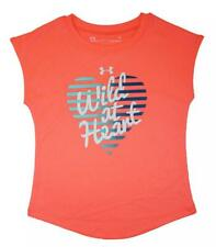 Under Armour Girls Wild At Heart Top Size 5
