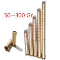 6pcs Archery 50-300gr Heavy Weight Arrow Brass Inserts Base Inserts Base 6.2mm