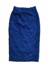 GENUINE BURBERRY LACE PENCIL SKIRT MEDIUM BLUE SIZE 4 US 6UK 36FR FULLY LINED
