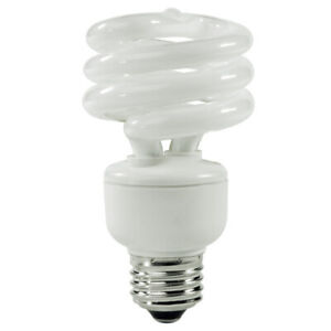 TCP 80101941 19W 4100K Spiral CFL Compact Fluorescent Lamp Medium Base