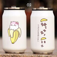 Anime Bananya Cute Cat Water Bottle Stainless Steel Thermos Cup Vacuum Cup 500ml