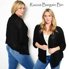 New Ladies Knitted Black Drape Plus Size 18/1XL (9800)LG