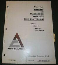 Allis Chalmers Hd 16d Hd 16dc Crawler Tractor Dozer Service Shop Repair Manual
