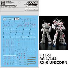 Decal Water Slide Decal Paste Sticker For Bandai RG RX-0 UNICORN Gundam Model