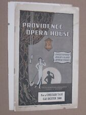 THE PIRATES OF PENZANCE - Vintage 1927 Providence RI Opera House Booklet