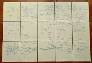 Southern Railway (inc LBSCR, SECR, S&DJR) vintage hand-drawn maps