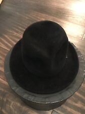 Mens Maniera black wool hat with hat box size Med