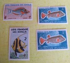 COLONIES FRANCAISES COTE DES SOMALIS NEUFS 295 /293  FAUNE POISSON