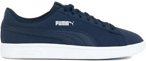PUMA Smash v2 Buck Men's Trainers Shoes Athletic Sneakers Blue 36516015