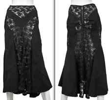 New sz L JUNYA WATANABE long black lace skirt Commes des Garcons dress
