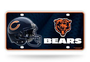 Chicago Bears 12x6 Auto Metal License Plate Tag CAR TRUCK