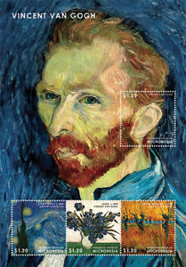 Micronesia 2013 - Vincent Van Gogh Sheet of Four Stamps - MNH