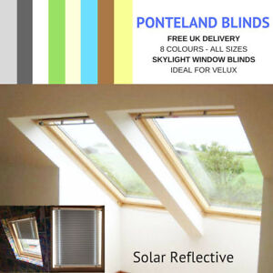 SKYLIGHT BLINDS FOR VELUX WINDOWS - Solar Reflective- FREE UK DELIVERY*