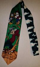 Golf Tie - Mickey, Goofy and Donald Duck Men's100% Silk Tie - Father's Day Gift