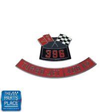 Chevrolet 396 Flags 400 Horsepower Air Cleaner Diecast Emblem Set