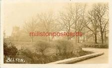 REAL PHOTOGRAPHIC POSTCARD OF BELTON, (NEAR GRANTHAM), LINCOLNSHIRE