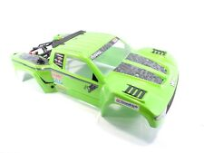 NEW AXIAL YETI SCORE 1/10 TROPHY TRUCK PAINTED GREEN BODY SHELL WITH ROLL CAGE