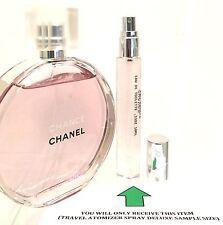 CHANCE CHANEL EAU TENDRE TRAVEL ATOMIZER SPRAY DELUXE SAMPLE PERFUME .33OZ(10ML)