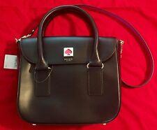 Kate Spade New Bond Street Flo BLACK Leather Cross Body Bag MSRP $448 NWT