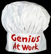 2 New Vintage style Genius At Work Chef hats Bbq grill fun retro Holiday gift
