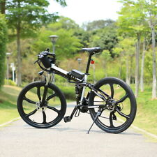 26INCH Electric-Bike Folding Mountain Bicycle 36V Lithium-ion Battery 21Speeds@