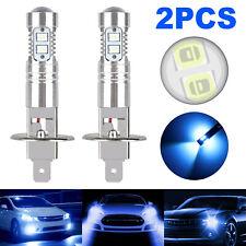 2pcs H1 8000k Cree Led Headlight Bulbs Kit High Low Beams Fog Driving Drl Light