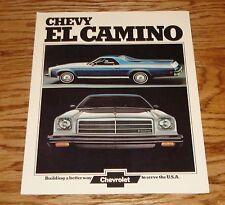 Original 1974 Chevrolet El Camino Foldout Sales Brochure 74 Chevy