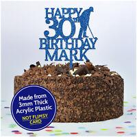 PERSONALISED Golfer Golf Happy Birthday Cake Topper for Him Son Dad Grandad Men