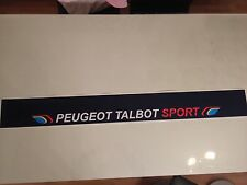Sticker autocollant Bande Pare Soleil Peugeot 205 Rallye Talbot Sport bleu foncé