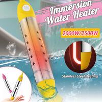 2000W/ 2500W Suspension Tauchsieder Bad Elektrokessel Pool Badewanne 10A