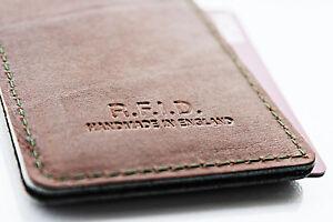 RFID Credit Card Holder Minimalist Luxury Genuine Real Leather Credit Wallet ID