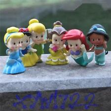 Kids Princess BeΙΙe CindereΙΙa Snow White Jasmine Ariel Figures Doll Figurines