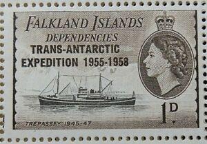 FALKLAND ISLAND DEPENDENCIES 1954-62 SG G27 1d. TREPASSEY, 1945-1947  -  MNH