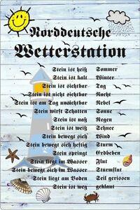 4 Sorten Wetterstein Gartendeko Wettertafel Humor- Wetterstation