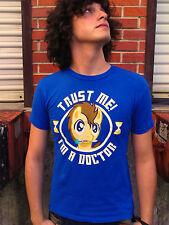 "MY LITTLE PONY ""TRUST ME I'M A DOCTOR"" Blue 100% Cotton Size S T-Shirt"