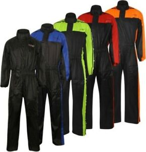 Rain suit Hi-Viz 1 Piece Motorcycle Motorbike Scooter Wind Waterproof Outdoor