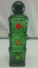 Avon Perfume Company Stop Light Shaped Stop N Go Spicy After Shave Glass Bottle