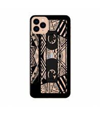 Coque Iphone 11 cassette K7 tape geometrique noir transparente