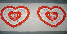 Vintage Springs Mills Fabric Panel Valentine Heart Pillow 7637
