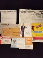 Collectible Vintage Mason Shoes Dealer Paper Lot Sales Literature 60's