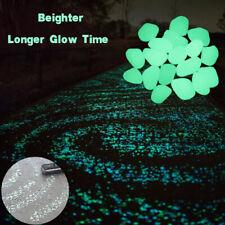 100PCS Garden Luminous Pebbles Glow in the Dark Stones Rock Outdoor Yard Decor