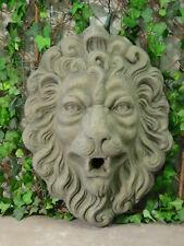Löwe Löwenkopf Löwen Kopf Barock Antik Look Kunst Sandstein Steinguß E 15 GRAU