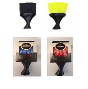 DENMAN D78 BLACK, RED,YELLOW BARBER NECK DUSTER BRUSH SOFT NYLON BRISTLES *RM48*