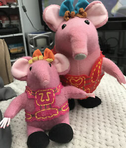 CLANGERS WHISTLE AND DANCE MOTHER & Whistling Tiny Pink Plush  Sounds Movement