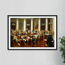 More details for ilya repin - ceremonial sitting of the state council (1903) poster painting art
